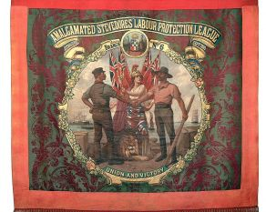 Banner of the Amalgamated Stevedores Union.