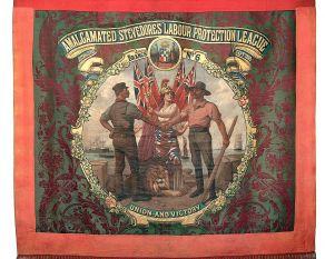 Banner of the Amalgamated Stevedores Union.