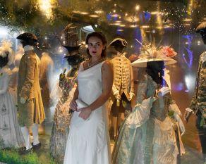 bride in the pleasure gardens